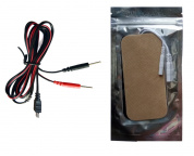 2 PCs Pin Electrode Pads with Connecting Cable for Denas PCM